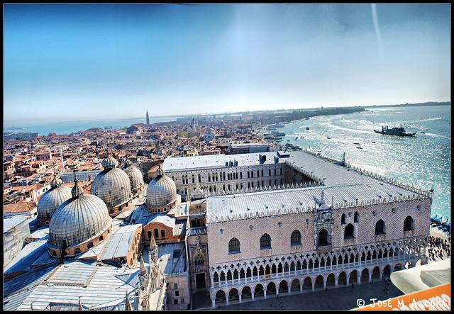 Venecia (Italia). Vista panorámica desde el Campanile.