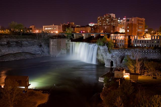 High Falls at Night