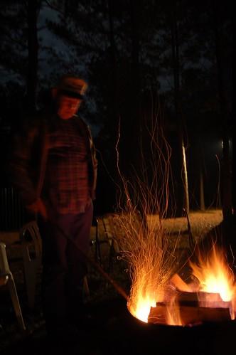 camp fire roast wiener larry goosehollow
