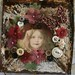 sweet girl collage on vintage tin by Sea Dream Studio