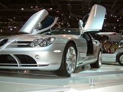 automobile, exhibition, wheel, vehicle, performance car, automotive design, mercedes-benz, auto show, mercedes-benz slr mclaren, land vehicle, luxury vehicle, supercar, sports car,