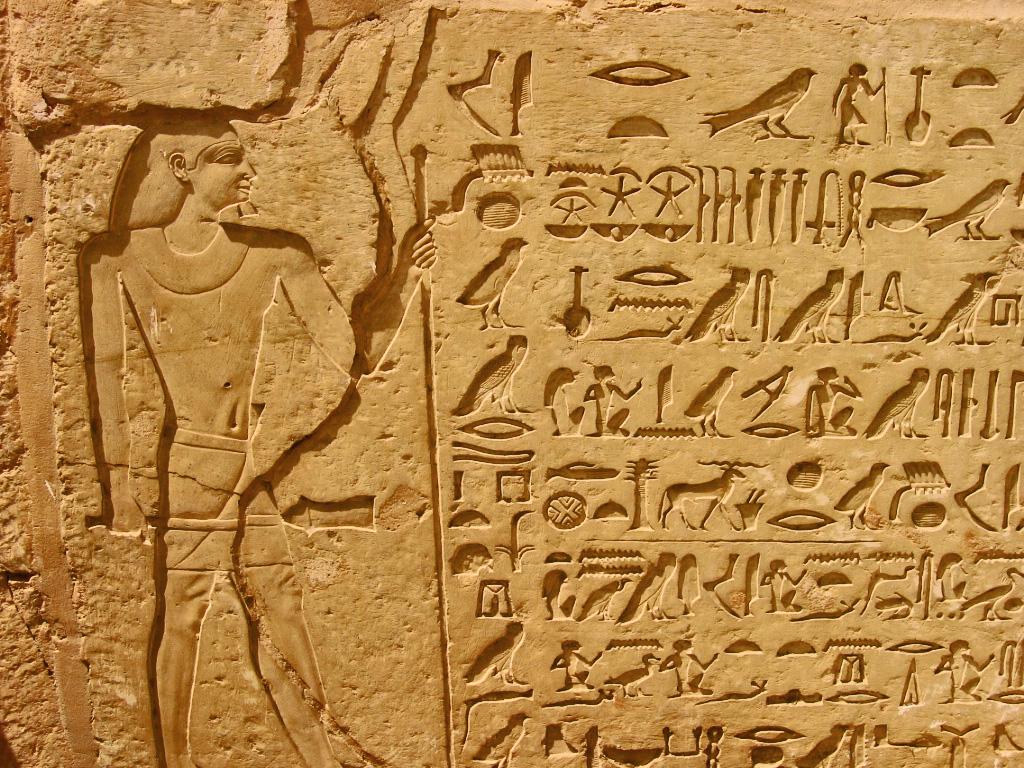 writing ancient egyptian hieroglyphics
