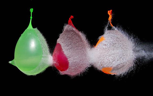 3 water baloons shot