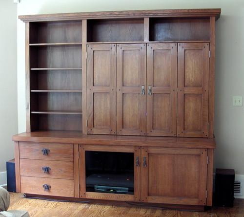 Custom Handmade Craftsman Style Cabinet