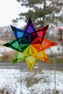 Rainbow Star with 19 Folds Per Point