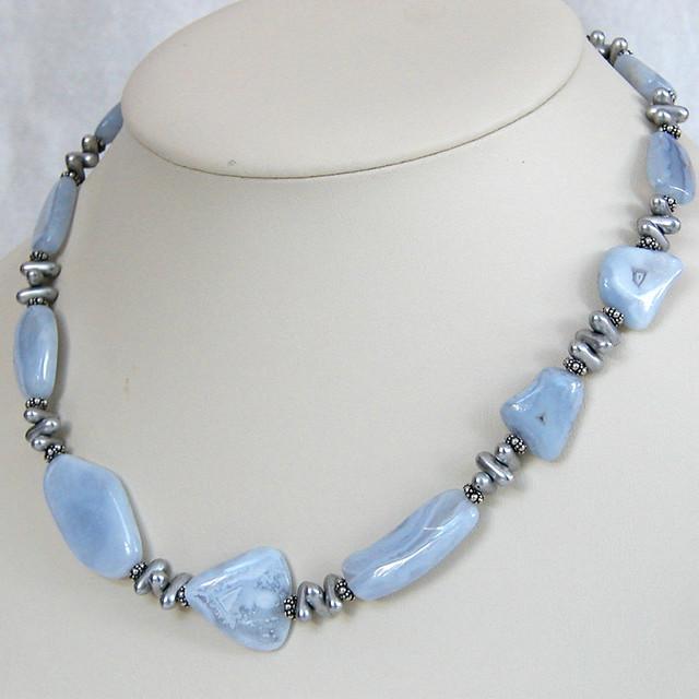 freeform blue lace agate necklace flickr photo