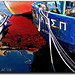 Medley of boats and reflexions by Eirini Papadaki