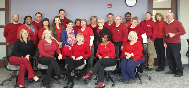 Corizon supports the American Heart Association by participating in National Wear Red Day