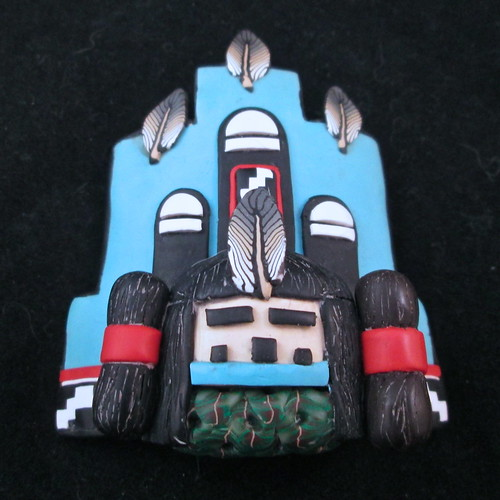 Corn Maiden Kachina Mask/Tile/Pendant