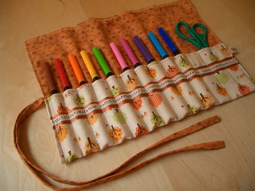 Felt Pen Roll - open