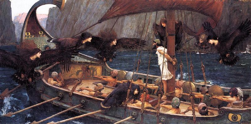 Odysseus and the Sirens by John William Waterhouse