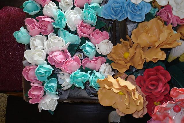 Flores Varias En  GOMA EVA