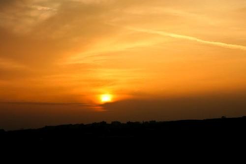 sunset landscape dusk