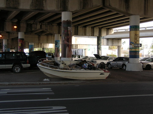 """""""Beached"""" boat"""