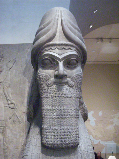 ashurnasirpal ii human headed winged lion Many of the reliefs found in sargon ii's palace were adopted from the previous art of ashurnasirpal ii winged and human-headed bulls history 2701 wiki.