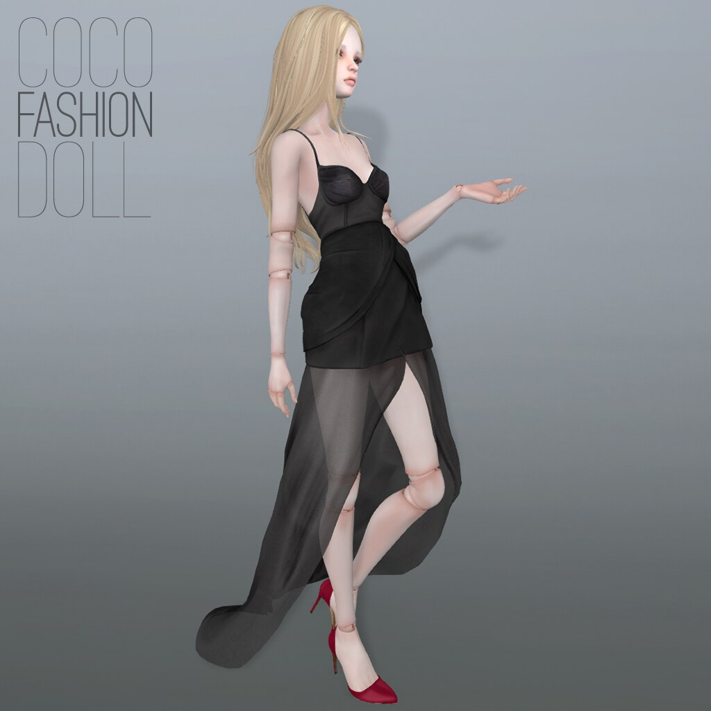 F.Doll_CorsetDress+OrganzaOverlay - SecondLifeHub.com