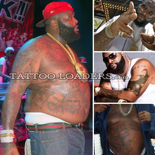 Rapper With Z Tattoed On His Face: Tattoos On Rapper Rick Ross