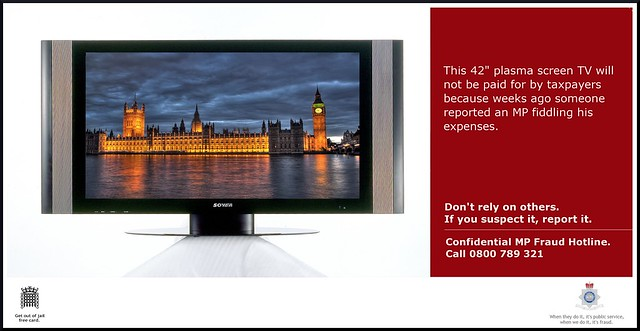 MP expenses fraud - If you suspect it, report it.