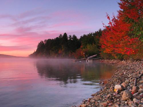 mist fall water sunrise gnd