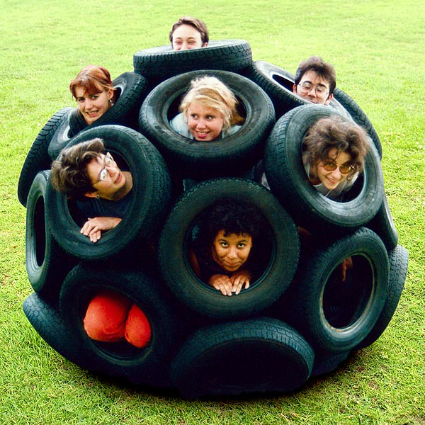 car tyre sphere with helpers flickr photo sharing. Black Bedroom Furniture Sets. Home Design Ideas