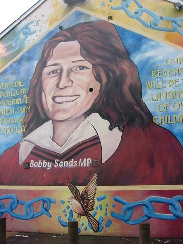 Ren girl in ireland for Bobby sands mural falls road