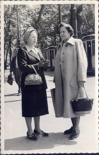 1957 mit Honni in Frankfurt