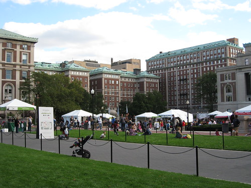 Fair at Columbia, along college walk