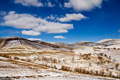 blue winter sky snow clouds canon landscape iran sigma land iranian 1770 kurdistan sanandaj kavan kordestan 400d mywinners