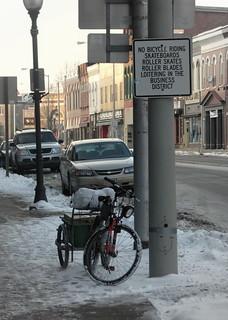 Traffic violation - Bicycle