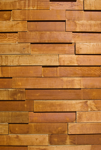 texture uneven wooden tiles on a wall a photo on