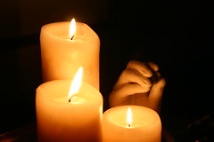 decor, flameless candle, candle, yellow, light, flame, lighting,