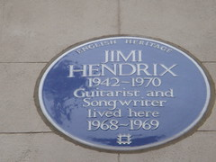Photo of Jimi Hendrix blue plaque