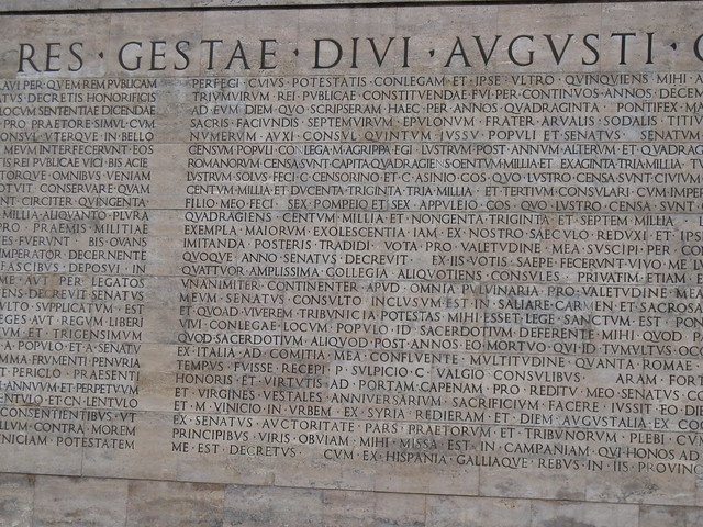 Res gestae divi augusti flickr photo sharing - Res gestae divi augusti ...
