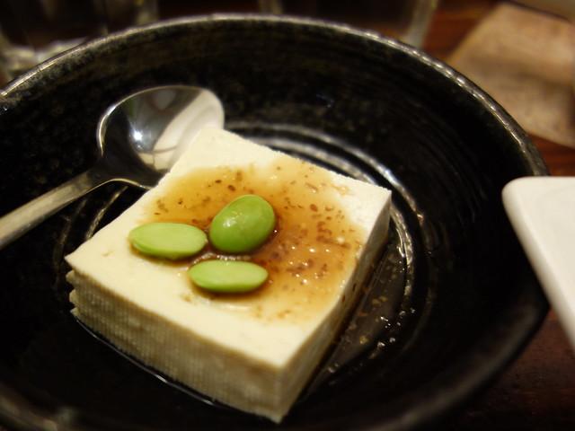 味萬田有機豆腐,淋上柚醋醬,冰涼開胃@家咖哩