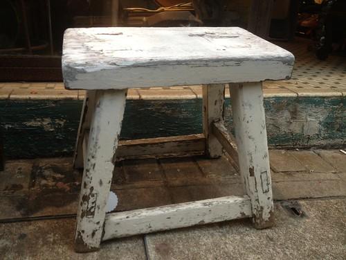 shabby stool