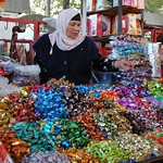 Colorful Sweets for Sale at Osh Market, Kyrgyzstan