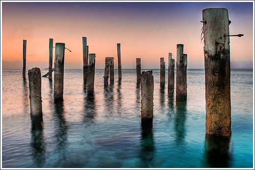 park new blue sunset heritage pier long exposure providence caribbean bahamas nassau clifton