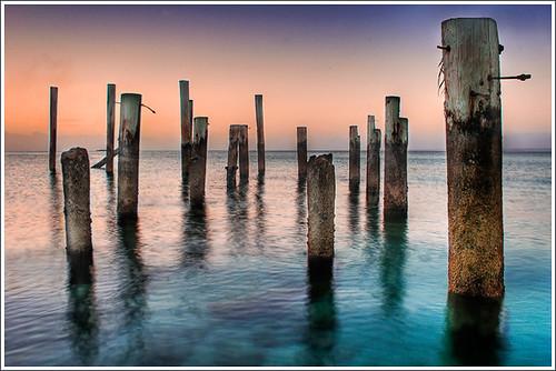 park new blue sunset heritage pier long exposure providence caribbean bahamas nassau clifton