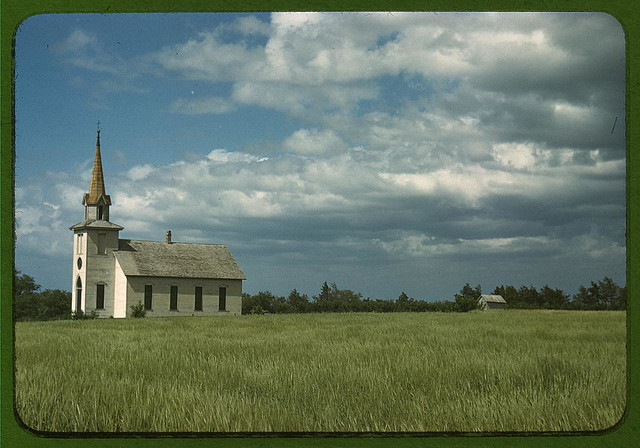 Church near Junction City, Kansas (LOC)