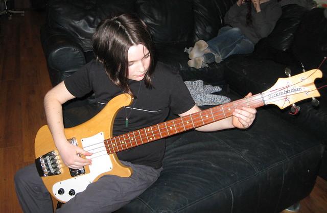 Photo:Shana with my old Rickenbacker 4000 By Eamonn_Sullivan
