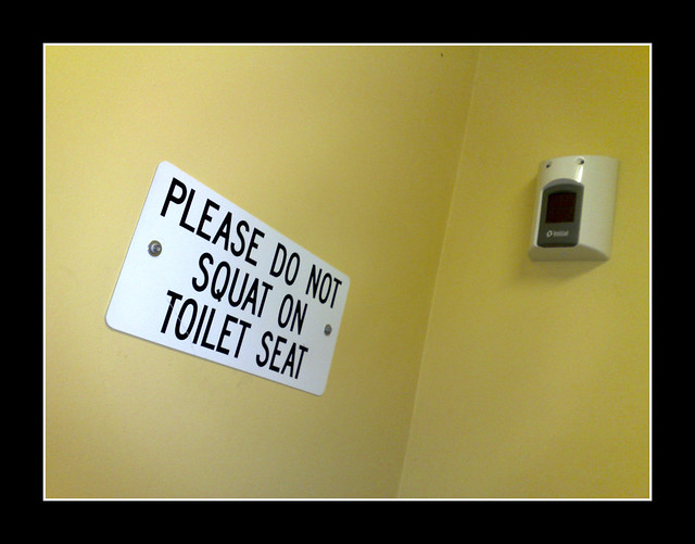 Please Do Not Squat On Toilet Seat Flickr Photo Sharing