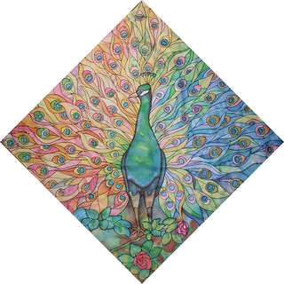 Peacock (silk-painting)