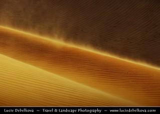 Oman - Wind in Wahiba Sands Dunes