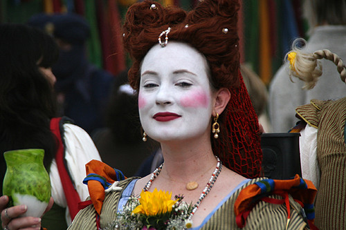 Beautiful girl at the Renaissance Fair