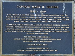 Photo of Mary B. Greene black plaque