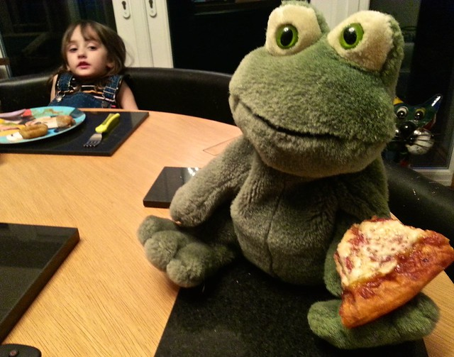 School mascot Freddie the Frog