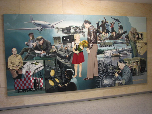 Ölgemälde Flughafen Tempelhof