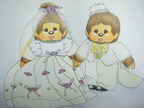 Monchhichi color pencil drawing