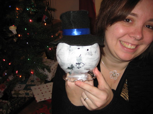 Snowman Light by Jesse - Scary face on one side, snowman face on the other!