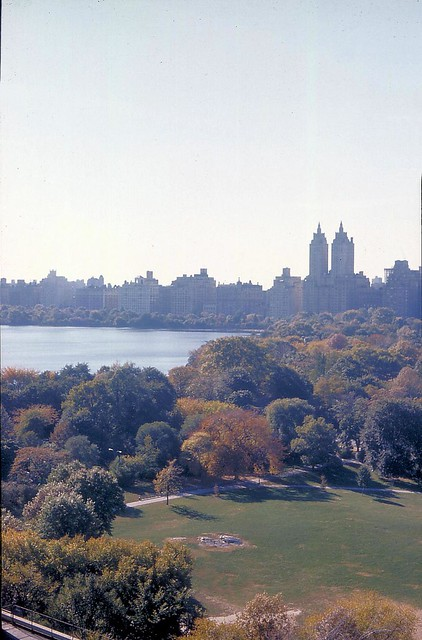 Fall 1974: Central Park NYC, SW from Mt Sinai, E 100 St